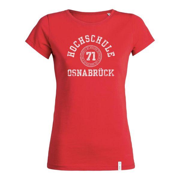 Damen Organic T-Shirt, hibiscus, college