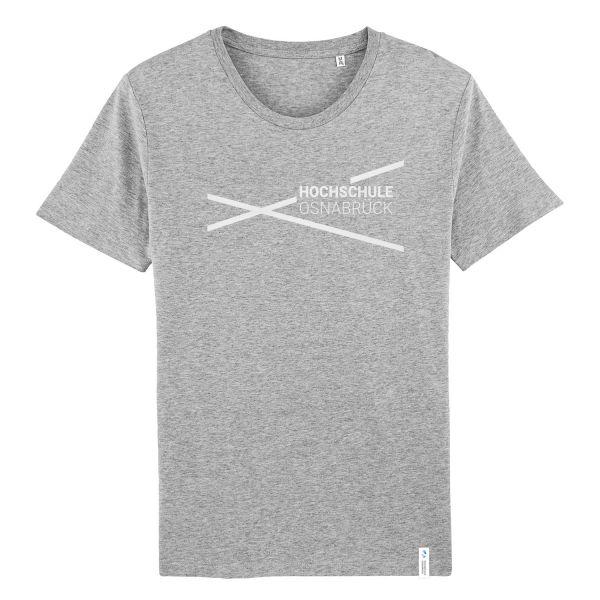 Herren Organic T-Shirt, heather grey, modern