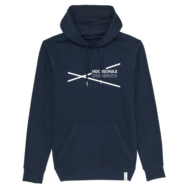 Unisex Organic Hooded Sweatshirt, navy, modern